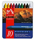 Caran d'Ache Neocolor I - Metallic Artist Crayons Set Of 10